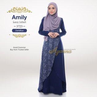 Amily Lace Jubah 3723 (DarkBlue)