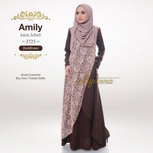 Amily Lace Jubah 3723 (DarkBrown)