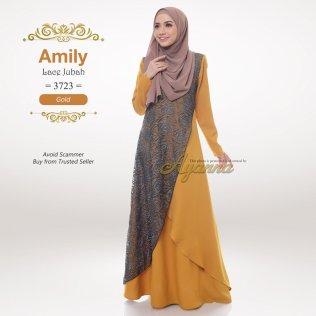 Amily Lace Jubah 3723 (Gold)