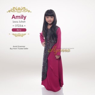 Amily Lace Jubah 3723A (Berry)