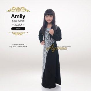 Amily Lace Jubah 3723A (Black)