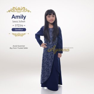 Amily Lace Jubah 3723A (DarkBlue)