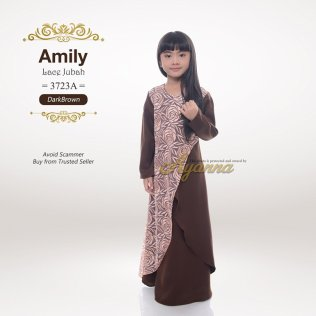 Amily Lace Jubah 3723A (DarkBrown)