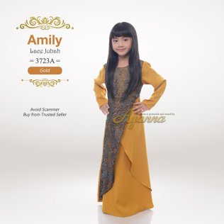Amily Lace Jubah 3723A (Gold)
