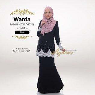 Warda Lace & Pearl Kurung 3784 (Black)