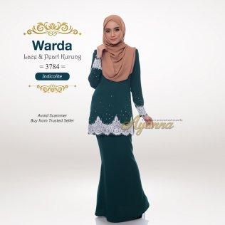 Warda Lace & Pearl Kurung 3784 (Indicolite)