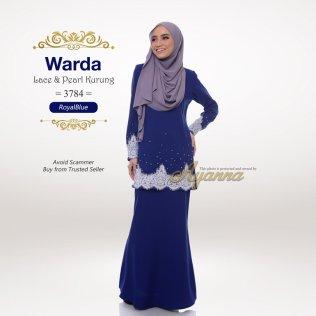 Warda Lace & Pearl Kurung 3784 (RoyalBlue)