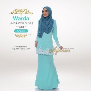 Warda Lace & Pearl Kurung 3784 (Turquoise)