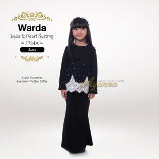 Warda Lace & Pearl Kurung 3784A (Black)
