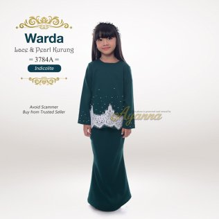 Warda Lace & Pearl Kurung 3784A (Indicolite)