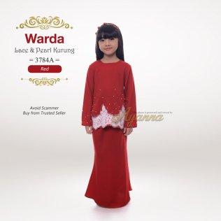 Warda Lace & Pearl Kurung 3784A (Red)