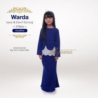 Warda Lace & Pearl Kurung 3784A (RoyalBlue)
