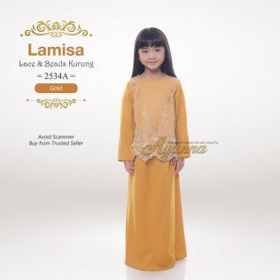 Lamisa Lace & Beads Kurung 2534A (Gold)
