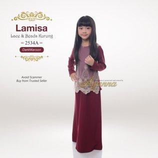 Lamisa Lace & Beads Kurung 2534A (Maroon)