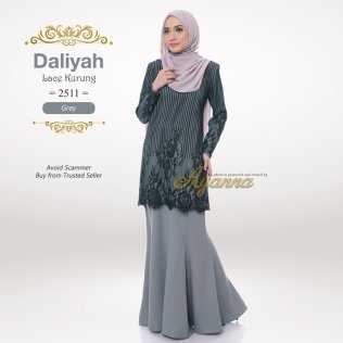 Daliyah Lace Kurung 2511 (Grey)