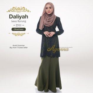 Daliyah Lace Kurung 2511 (OliveGreen)