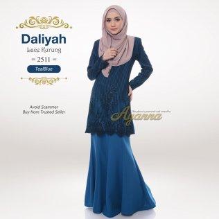 Daliyah Lace Kurung 2511 (TealBlue)