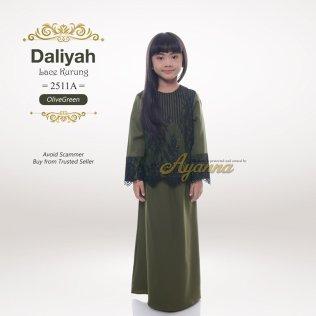 Daliyah Lace Kurung 2511A (OliveGreen)