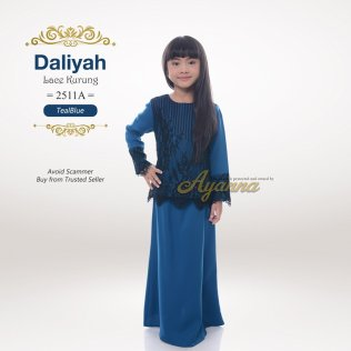 Daliyah Lace Kurung 2511A (TealBlue)