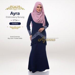 Ayra Embroidery Kurung 3734 (DarkBlue)