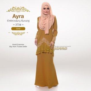 Ayra Embroidery Kurung 3734 (Gold)