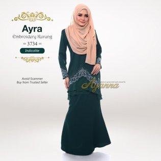 Ayra Embroidery Kurung 3734 (Indicolite)