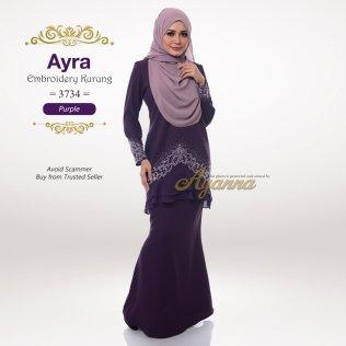 Ayra Embroidery Kurung 3734 (Purple)