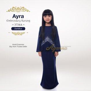 Ayra Embroidery Kurung 3734A (DarkBlue)