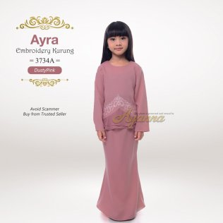 Ayra Embroidery Kurung 3734A (DustyPink)