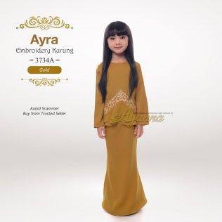 Ayra Embroidery Kurung 3734A (Gold)