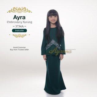 Ayra Embroidery Kurung 3734A (Indicolite)