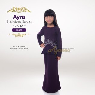 Ayra Embroidery Kurung 3734A (Purple)