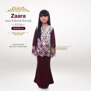 Zaara Lace & Beads Kurung 3717A (DarkMaroon)