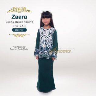 Zaara Lace & Beads Kurung 3717A (Indicolite)