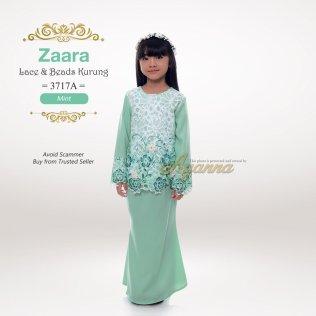 Zaara Lace & Beads Kurung 3717A (Mint)
