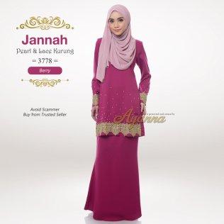 Jannah Pearl & Lace Kurung 3778 (Berry)