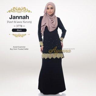 Jannah Pearl & Lace Kurung 3778 (Black)