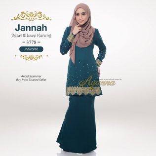 Jannah Pearl & Lace Kurung 3778 (Indicolite)