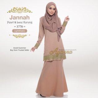 Jannah Pearl & Lace Kurung 3778 (LightKhakis)