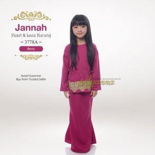 Jannah Pearl & Lace Kurung 3778A (Berry)