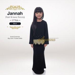 Jannah Pearl & Lace Kurung 3778A (Black)