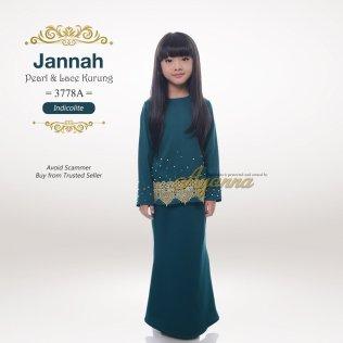 Jannah Pearl & Lace Kurung 3778A (Indicolite)