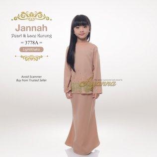 Jannah Pearl & Lace Kurung 3778A (LightKhakis)