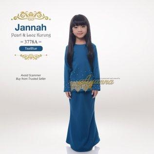 Jannah Pearl & Lace Kurung 3778A (TealBlue)