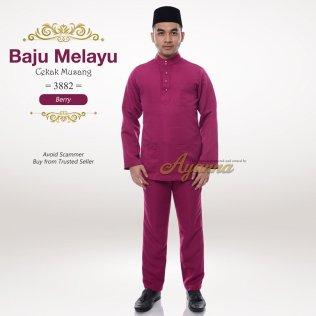 Baju Melayu Cekak Musang 3882 (Berry)