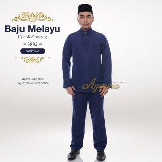 Baju Melayu Cekak Musang 3882 (DarkBlue)