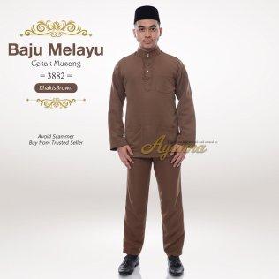 Baju Melayu Cekak Musang 3882 (KhakisBrown)