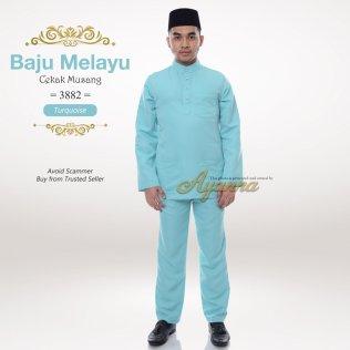 Baju Melayu Cekak Musang 3882 (Turquoise)