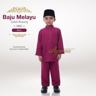 Baju Melayu Cekak Musang 3881 (Berry)