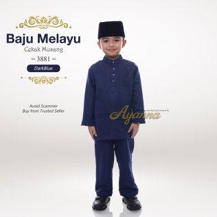 Baju Melayu Cekak Musang 3881 (DarkBlue)